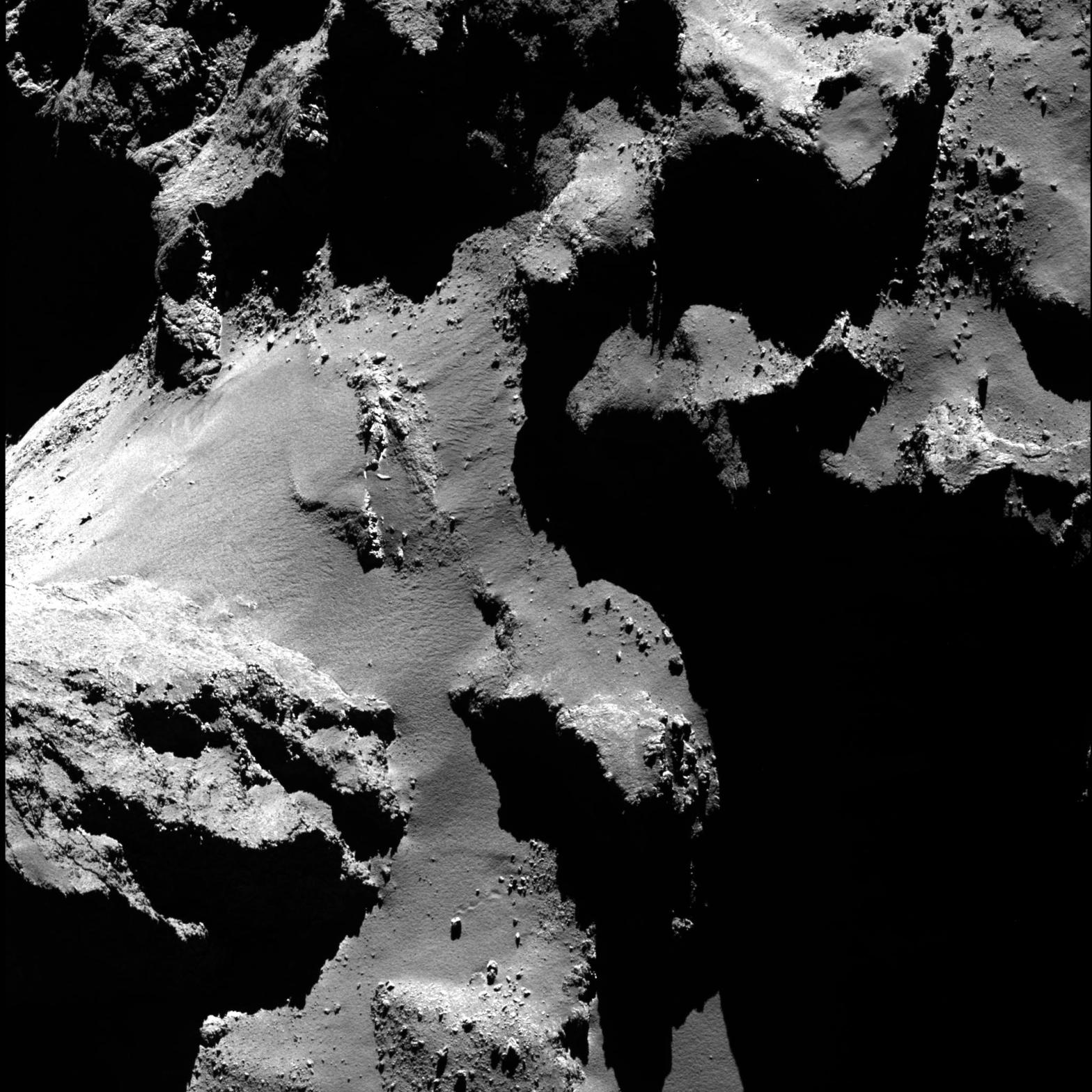Close-up of Comet 67P