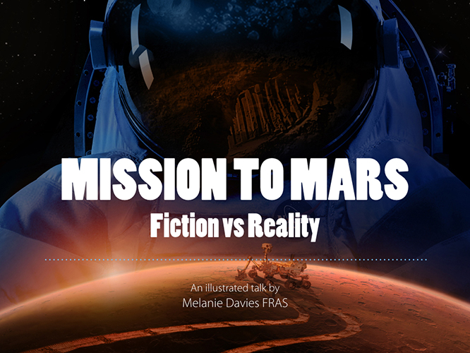 Slide from Mission to Mars talk by Melanie Davies