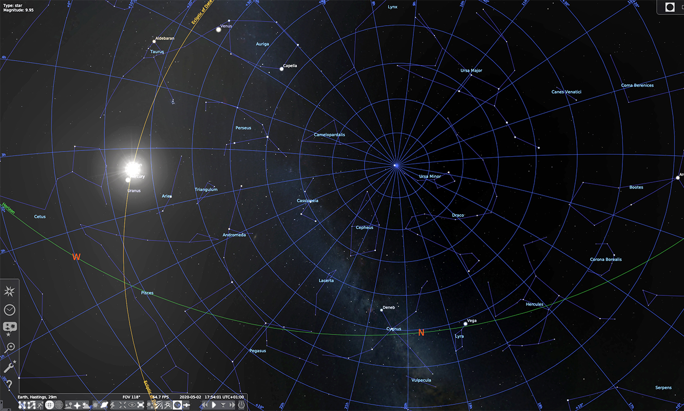 Screenshot from Digital Cosmos workshop