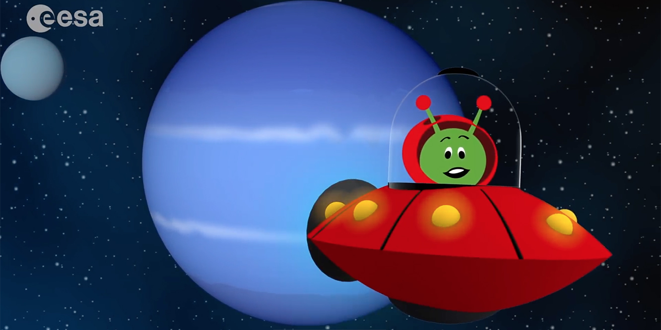 Animation of ESA Kids Paxi at Neptune