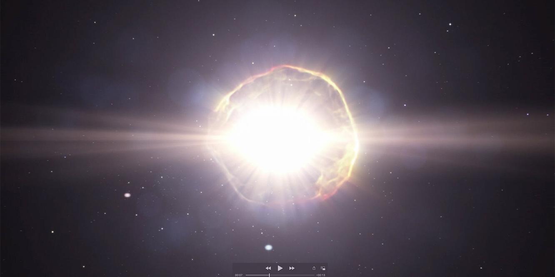 Screenshot from a supernova animation