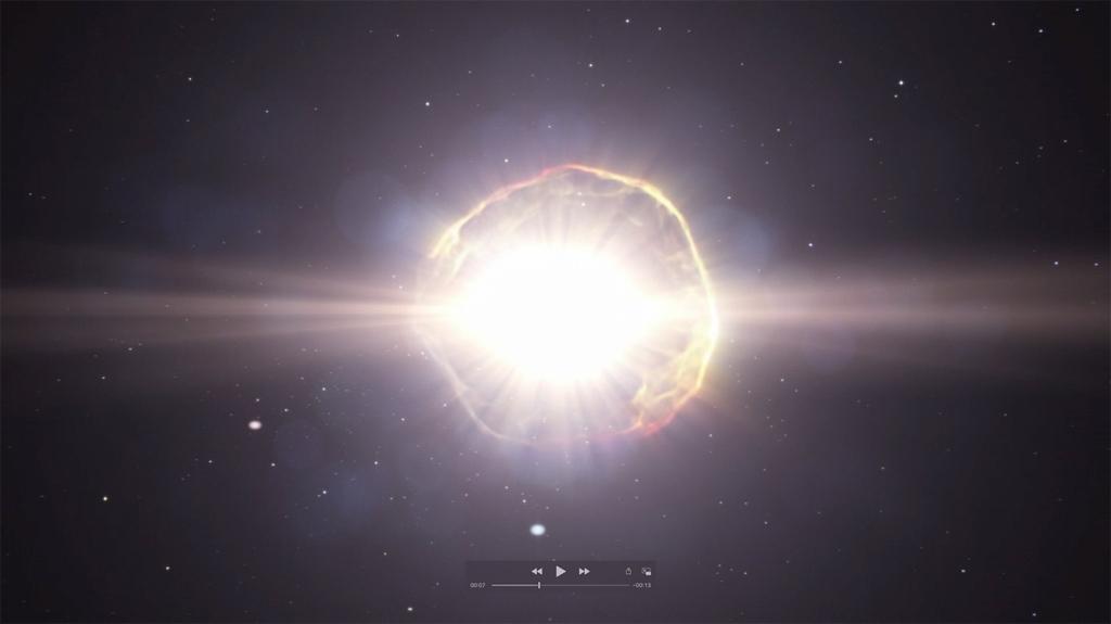 Supernova simulation
