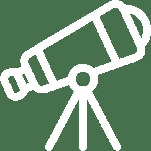 Cartoon of telescope